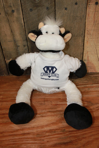 Metropolis Stuffed Plush Animal Cow (RA CLOSEOUT)