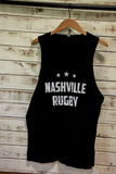 Nashville Rugby Black Tank - Moon's Out
