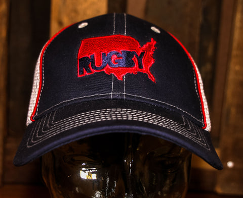 *USA Outline Rugby Hat