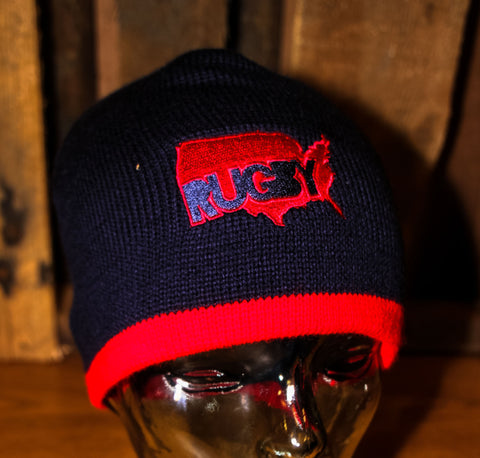 *USA Outline Knit Beanie