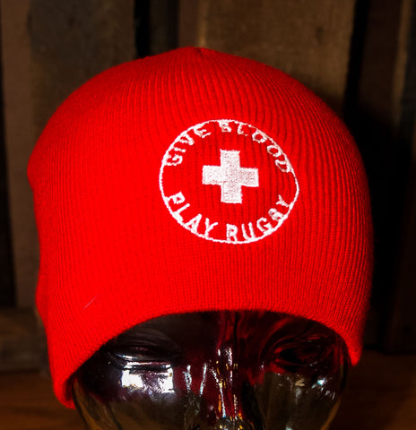 *Give Blood Play Rugby Beanie