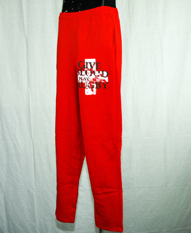 *Give Blood Play Rugby Sweatpants / RED