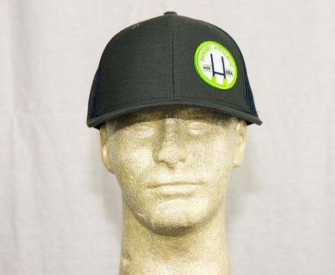 *Rugby Athletic Charcoal + Navy Patch Hat (Green Patch)