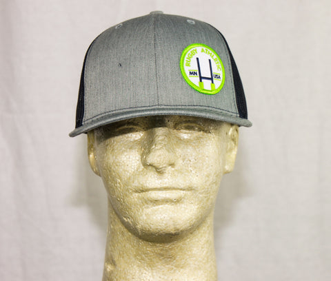 *Rugby Athletic Grey + Navy Patch Hat (Green Patch)