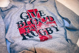 *Give Blood Play Rugby Hoodie / GREY