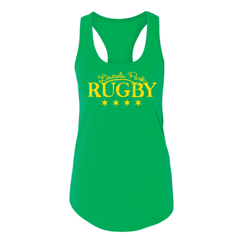 Lincoln Park RFC - Ladies Racerback Tank, Green (Pre-Order)