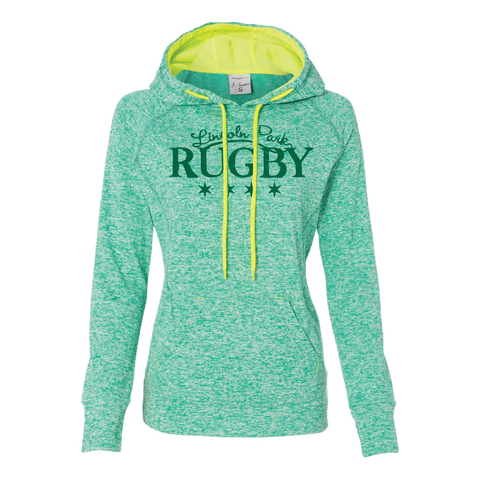 Lincoln Park RFC - Ladies Cosmic Hoodie, Emerald Green (Pre-Order)
