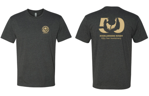 Denver Highlanders 50th Anniversary Tee Shirt (Pre-Order)