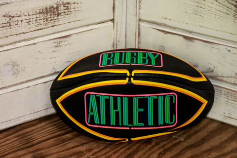 *Neon/Black Rugby Ball