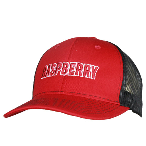 Raspberry Festival Red/Black Mesh Back Cap