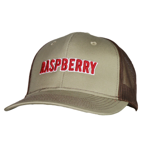 Raspberry Festival Khaki/Coffee Mesh Back Cap