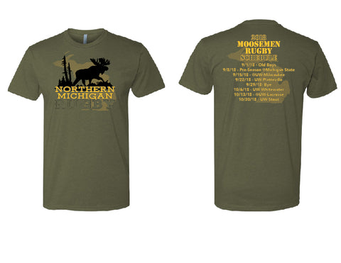 Northern Michigan Rugby 2018 Schedule Tee (Pre-Order)