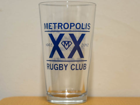 Metropolis 20th Anniversary Pint Glass