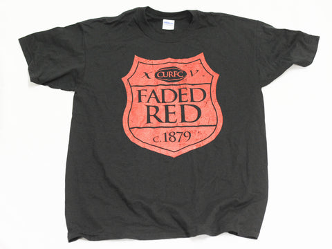 Faded Red Rugby - Shield Logo