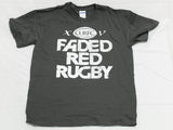 Faded Red Rugby - Black Tee