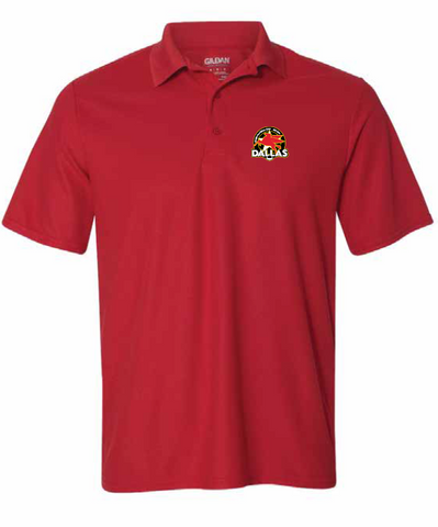 Dallas Rugby Dry Fit Polo - Red or Black (Pre-Order)