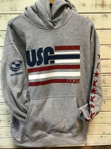 *USA Rugby Retro Lines Hoodie (RA)