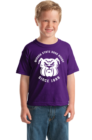 Winona State Rugby Youth Tee - Dogg Rugby (STOCK)