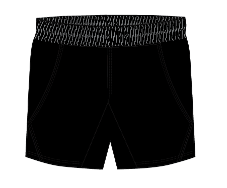 South River Sentinels - Rugby Shorts, Black (Pre-Order)