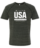 USAFL Team Supporter, Men's Triblend Shirt - Charcoal (Pre-Order)