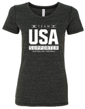 USAFL Team Supporter, Ladies Triblend Shirt - Charcoal (Pre-Order)