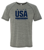 USAFL Team Athlete, Men's Triblend Shirt - Grey (Pre-Order)