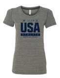 USAFL Team Athlete, Ladies Triblend Shirt - Grey (Pre-Order)