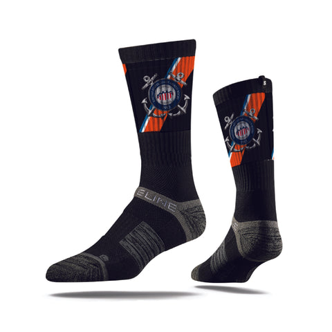 Coast Guard Rugby Custom Crew Sock (STOCK)