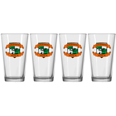 Charles River Pub Pint Glass - 4-Pack (STOCK)