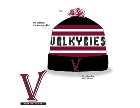 Minnesota Valkyries Knit Pom Beanie (Stock)