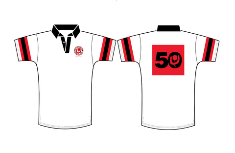 Denver Highlanders 50th Anniversary Short Sleeve Cotton Jersey White (Pre-Order)