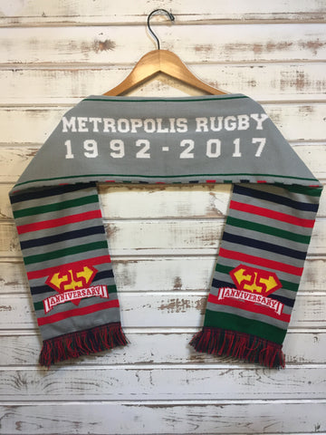 *Metropolis Rugby 25th Anniversary Scarf (RA STOCK)