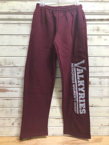 *Valkyries Maroon Sweatpants (RA Stock)