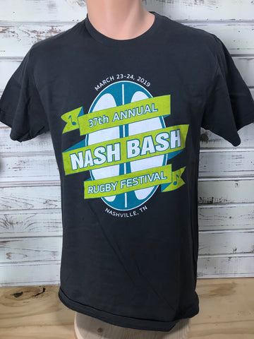Nash Bash T-Shirt, March 23-24 2019 - Charcoal