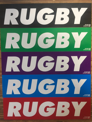 *RUGBY Bumper Stickers (RA)
