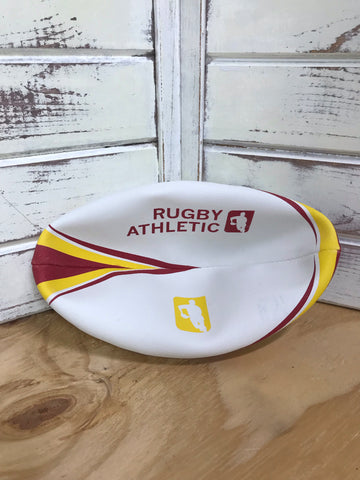 *RA Maroon + Gold Rugby Ball - Size 4