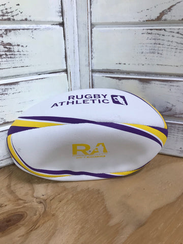 *RA Purple + Gold Rugby Ball - Size 4