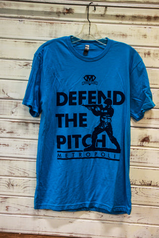 *Metropolis Defend the Pitch Blue Tee (RA STOCK)
