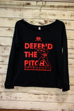 *Metropolis Women's Defend the Pitch Navy Long Sleeve Crew (RA STOCK)