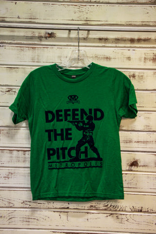 *Metropolis Defend the Pitch Youth Green Tee (RA STOCK)