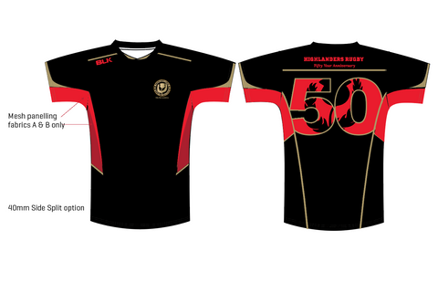 Denver Highlanders 50th Anniversary BLK Tech Tee (Pre-Order)