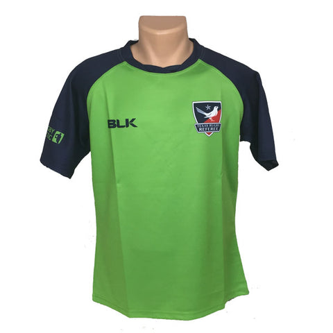 Texas Rugby Referee BLK LIME GREEN Jersey