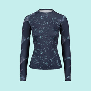 Second Skin Eco Friendly Rash Guard For Women Front