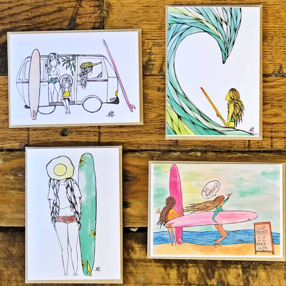 Surf Greeting Card Pack