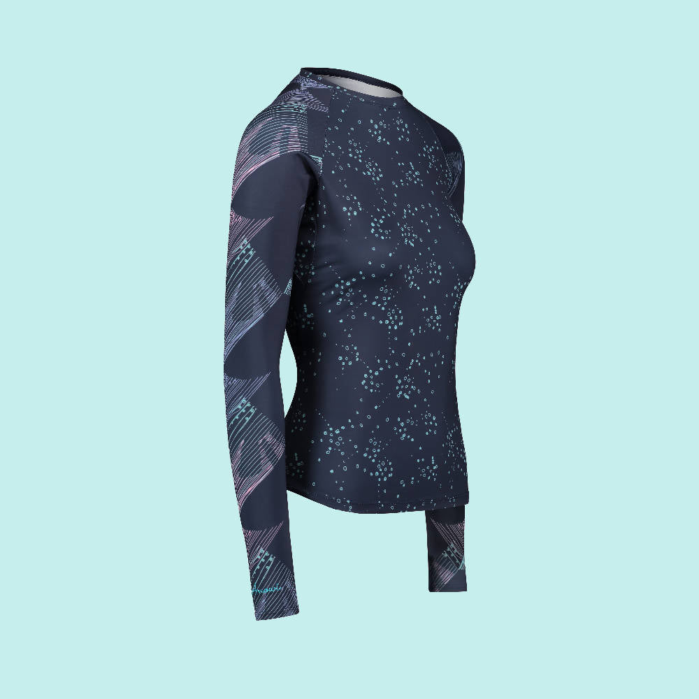 Second Skin Eco Friendly Rash Guard For Women Side