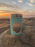 SeaBlue Wooden Stickers