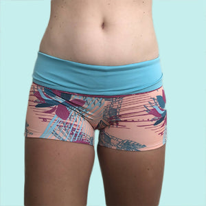 High Waisted Swim Short Folded