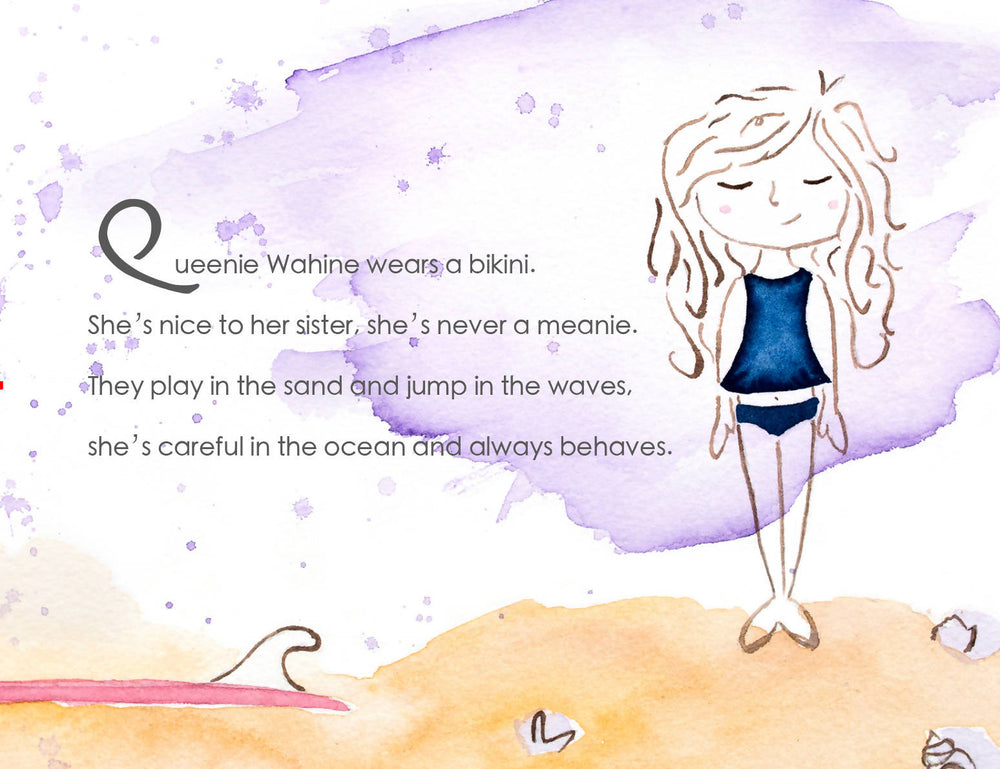 Queenie Wahine Little Surfer Girl, Children's Book
