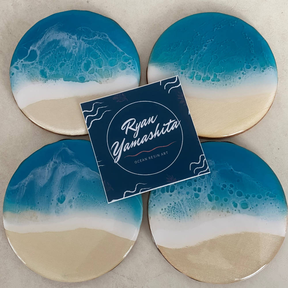 Ocean Resin Coasters (Set of 4)