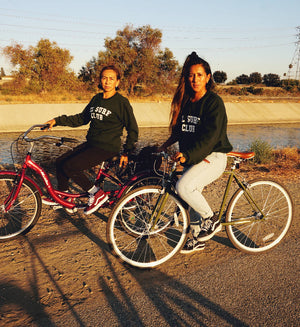 El Surf Club Sweater- Mother and Daughter on bikes